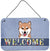 Shiba Inu Welcome Wall or Door Hanging Prints BB1411DS812 by Caroline's Treasures