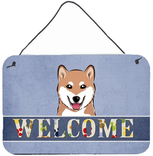 Buy this Shiba Inu Welcome Wall or Door Hanging Prints BB1411DS812