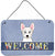 Buy this Westie Welcome Wall or Door Hanging Prints BB1412DS812