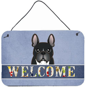 Buy this French Bulldog Welcome Wall or Door Hanging Prints BB1413DS812