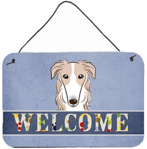 Buy this Borzoi Welcome Wall or Door Hanging Prints BB1414DS812
