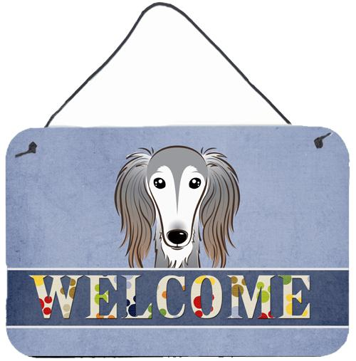 Buy this Saluki Welcome Wall or Door Hanging Prints BB1415DS812