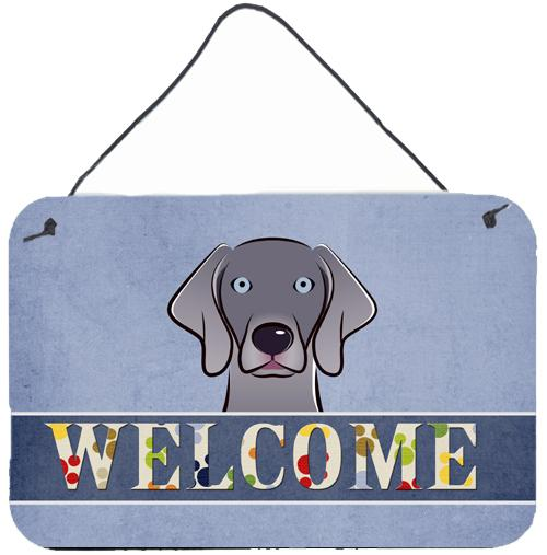 Buy this Weimaraner Welcome Wall or Door Hanging Prints BB1417DS812