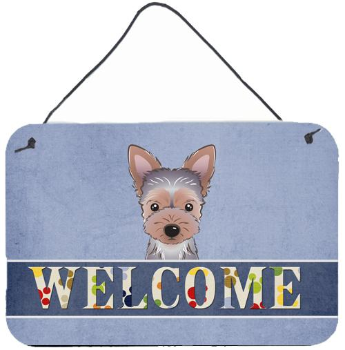 Buy this Yorkie Puppy Welcome Wall or Door Hanging Prints BB1418DS812