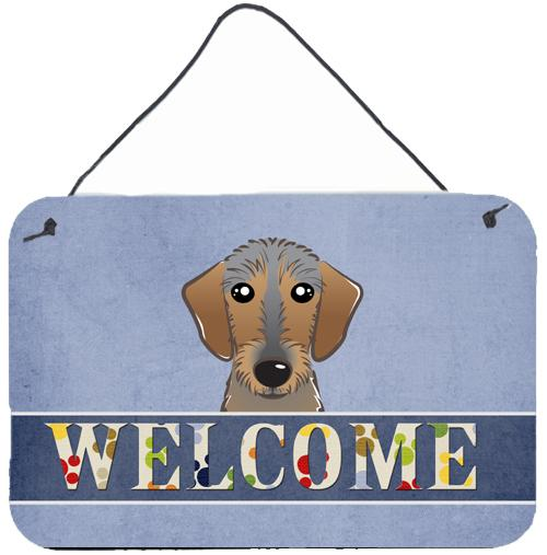 Buy this Wirehaired Dachshund Welcome Wall or Door Hanging Prints BB1419DS812