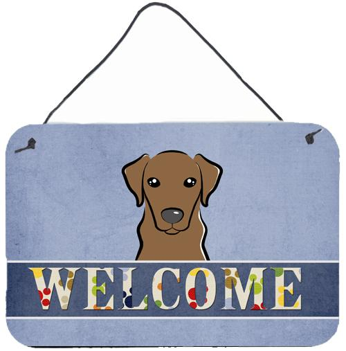 Buy this Chocolate Labrador Welcome Wall or Door Hanging Prints BB1420DS812