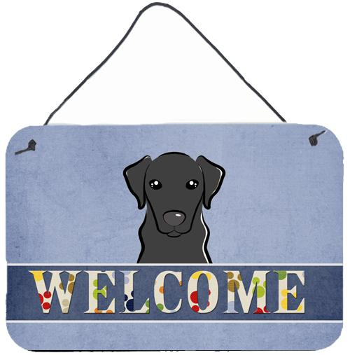 Buy this Black Labrador Welcome Wall or Door Hanging Prints BB1421DS812