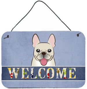 Buy this French Bulldog Welcome Wall or Door Hanging Prints BB1424DS812