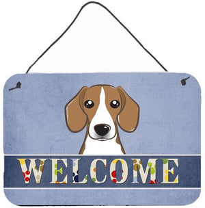 Buy this Beagle Welcome Wall or Door Hanging Prints BB1425DS812
