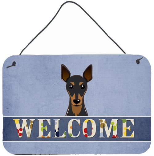 Min Pin Welcome Wall or Door Hanging Prints BB1426DS812 by Caroline's Treasures