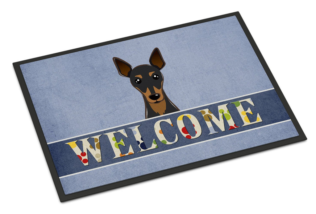 Buy this Min Pin Welcome Indoor or Outdoor Mat 18x27 BB1426MAT