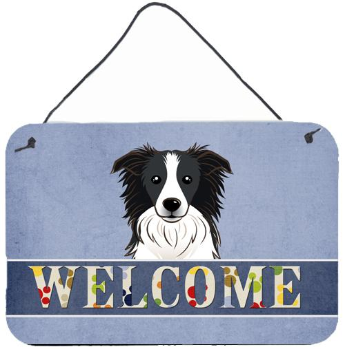 Buy this Border Collie Welcome Wall or Door Hanging Prints BB1427DS812