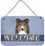 Buy this Sheltie Welcome Wall or Door Hanging Prints BB1428DS812