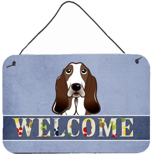 Buy this Basset Hound Welcome Wall or Door Hanging Prints BB1429DS812