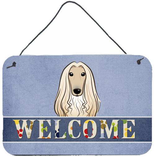 Buy this Afghan Hound Welcome Wall or Door Hanging Prints BB1430DS812