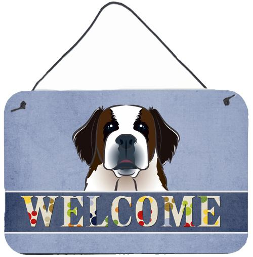 Buy this Saint Bernard Welcome Wall or Door Hanging Prints BB1432DS812