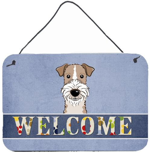 Buy this Wire Haired Fox Terrier Welcome Wall or Door Hanging Prints BB1433DS812