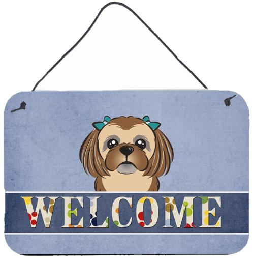 Buy this Chocolate Brown Shih Tzu Welcome Wall or Door Hanging Prints BB1435DS812