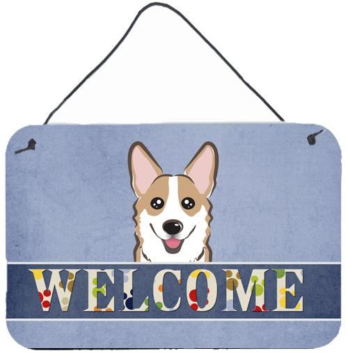 Buy this Sable Corgi Welcome Wall or Door Hanging Prints BB1439DS812