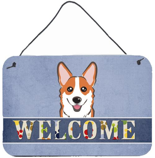 Buy this Red Corgi Welcome Wall or Door Hanging Prints BB1440DS812