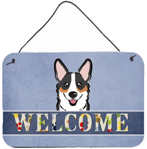Buy this Tricolor Corgi Welcome Wall or Door Hanging Prints BB1441DS812