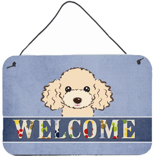 Buff Poodle Welcome Wall or Door Hanging Prints BB1444DS812 by Caroline's Treasures