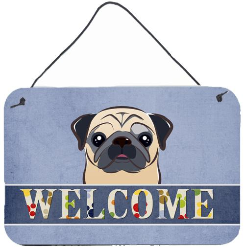 Buy this Fawn Pug Welcome Wall or Door Hanging Prints BB1448DS812