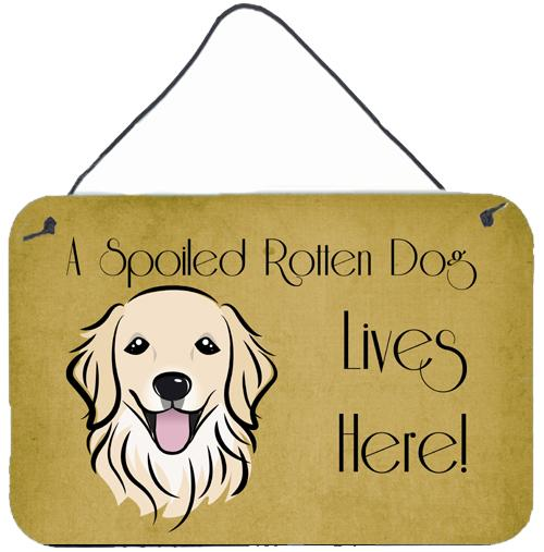 Buy this Golden Retriever Spoiled Dog Lives Here Wall or Door Hanging Prints BB1453DS812