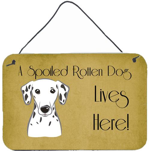 Dalmatian Spoiled Dog Lives Here Wall or Door Hanging Prints BB1458DS812 by Caroline's Treasures