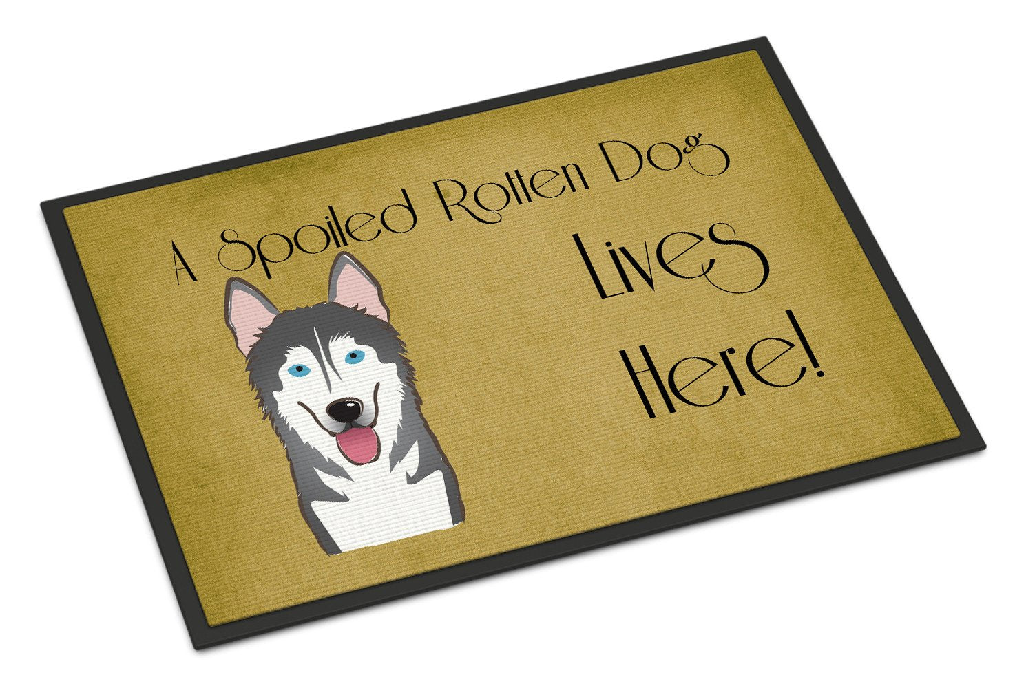 Alaskan Malamute Spoiled Dog Lives Here Indoor or Outdoor Mat 18x27 BB1466MAT - the-store.com