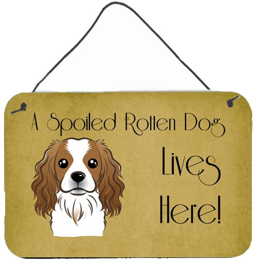 Buy this Cavalier Spaniel Spoiled Dog Lives Here Wall or Door Hanging Prints BB1472DS812