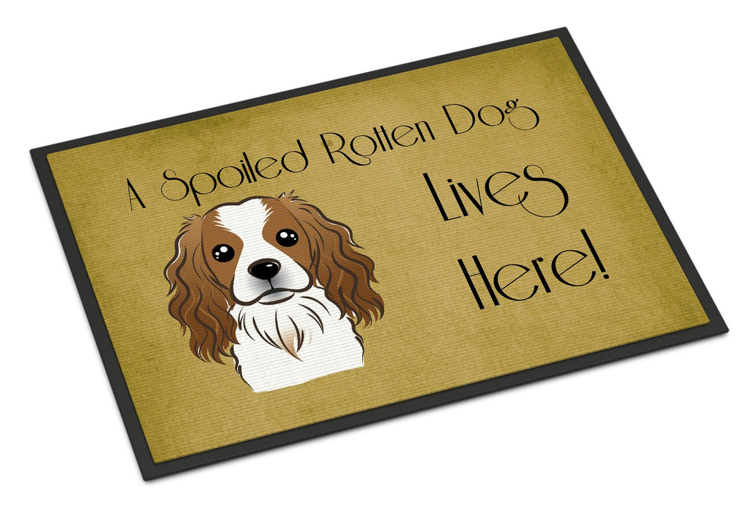 Cavalier Spaniel Spoiled Dog Lives Here Indoor or Outdoor Mat 18x27 BB1472MAT - the-store.com