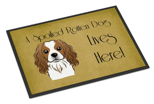 Buy this Cavalier Spaniel Spoiled Dog Lives Here Indoor or Outdoor Mat 18x27 BB1472MAT