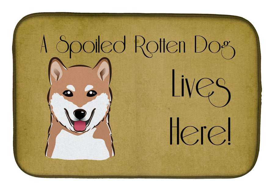 Buy this Shiba Inu Spoiled Dog Lives Here Dish Drying Mat BB1473DDM