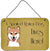 Shiba Inu Spoiled Dog Lives Here Wall or Door Hanging Prints BB1473DS812 by Caroline's Treasures