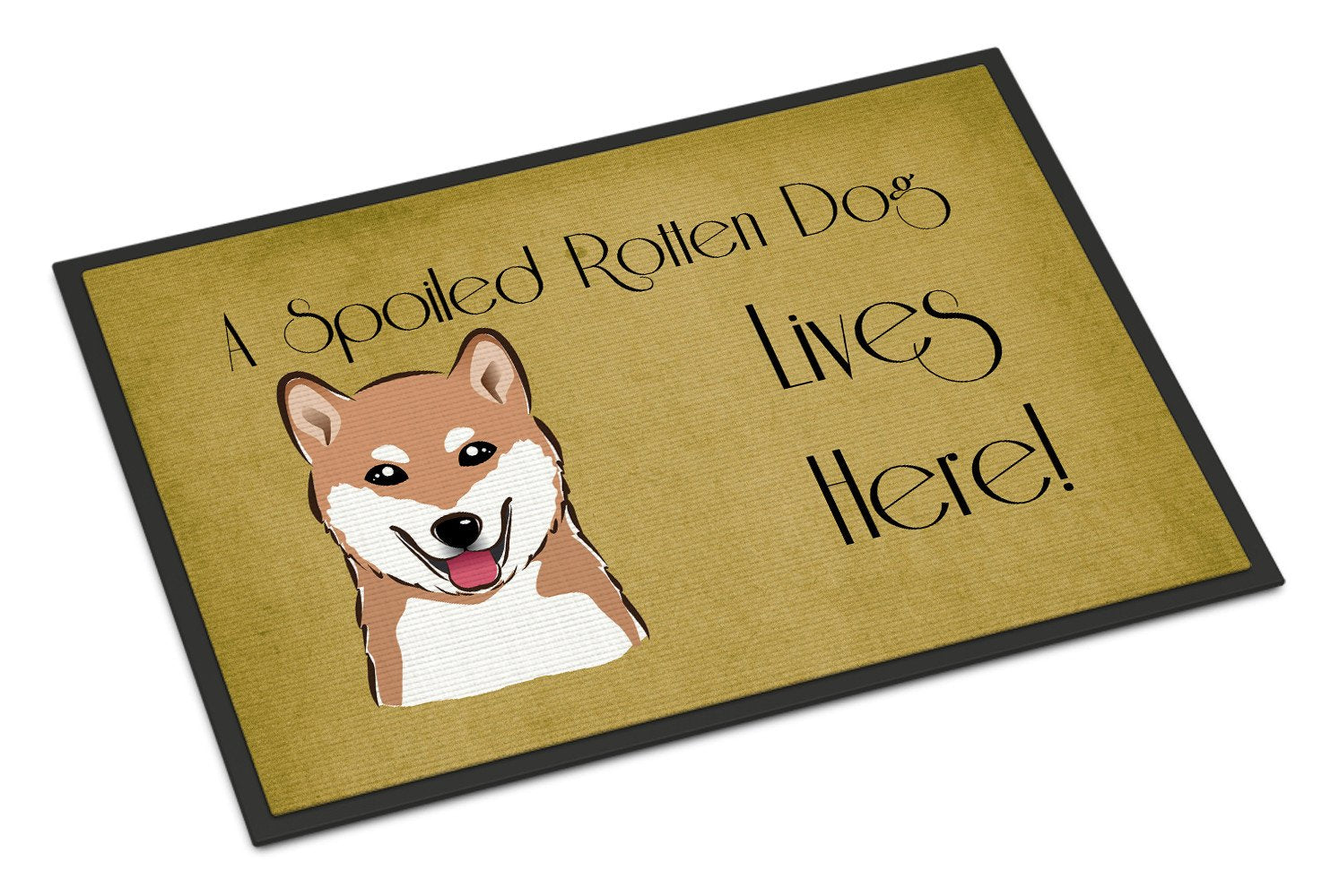 Shiba Inu Spoiled Dog Lives Here Indoor or Outdoor Mat 18x27 BB1473MAT - the-store.com