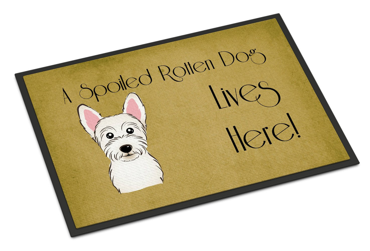 Westie Spoiled Dog Lives Here Indoor or Outdoor Mat 18x27 BB1474MAT - the-store.com