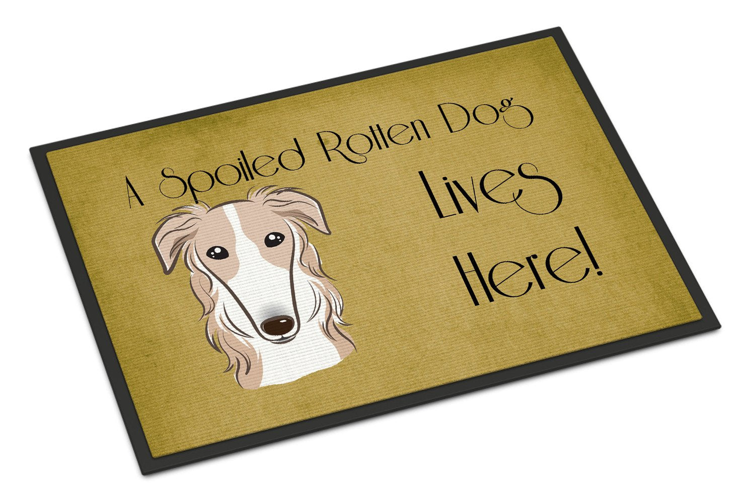 Borzoi Spoiled Dog Lives Here Indoor or Outdoor Mat 18x27 BB1476MAT - the-store.com