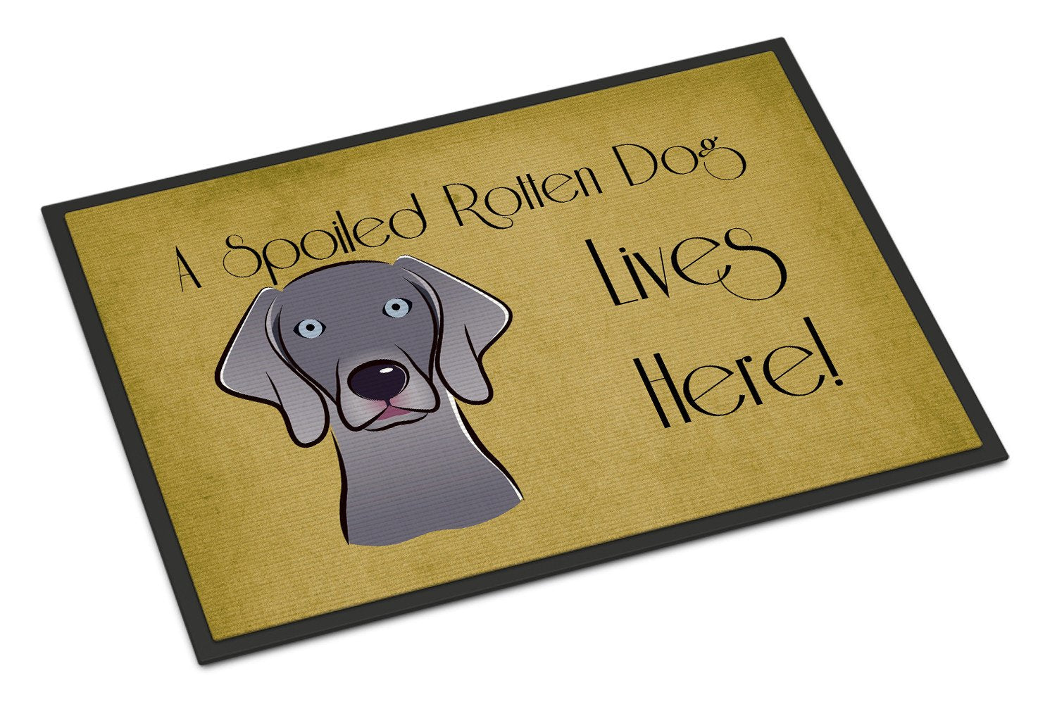 Weimaraner Spoiled Dog Lives Here Indoor or Outdoor Mat 18x27 BB1479MAT - the-store.com