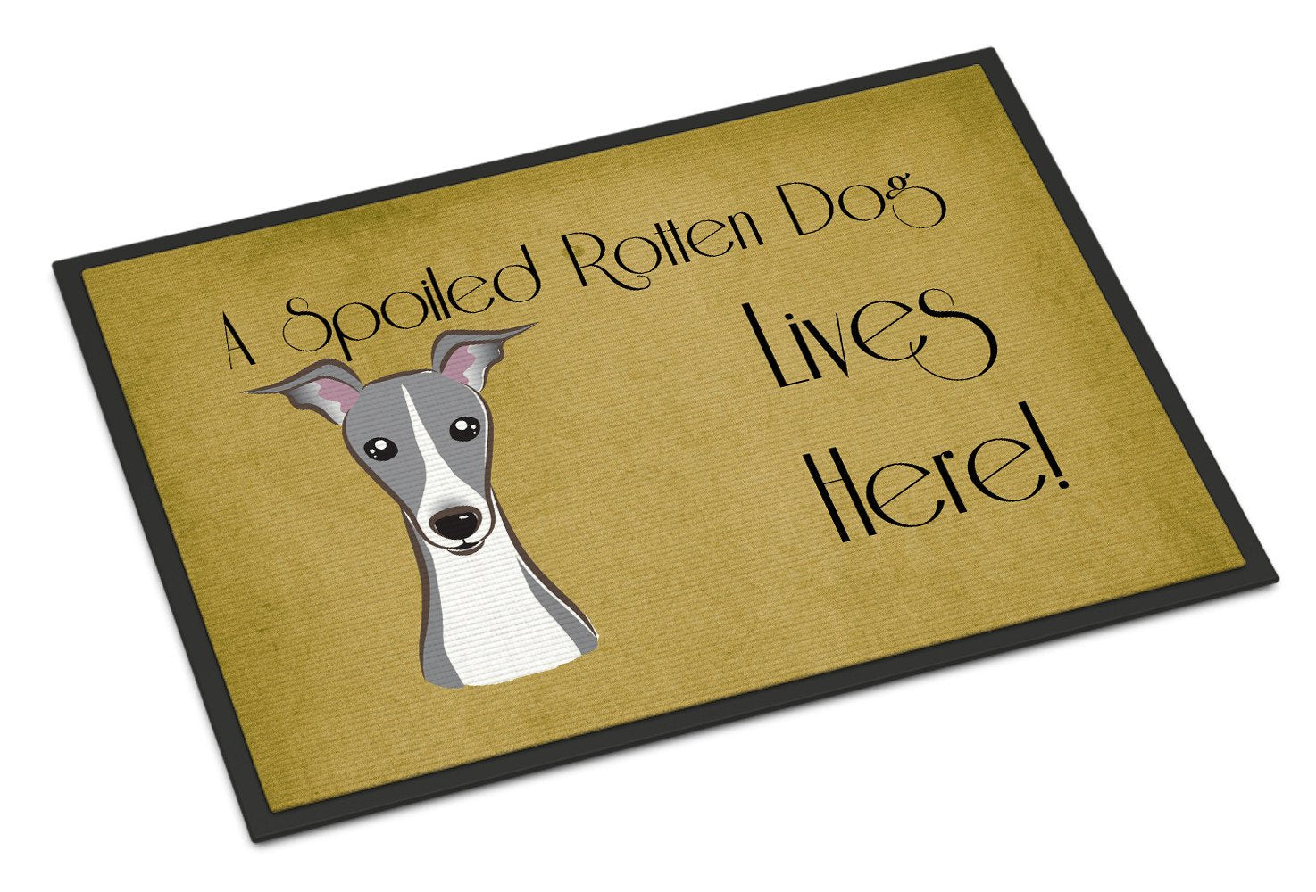 Italian Greyhound Spoiled Dog Lives Here Indoor or Outdoor Mat 18x27 BB1484MAT - the-store.com