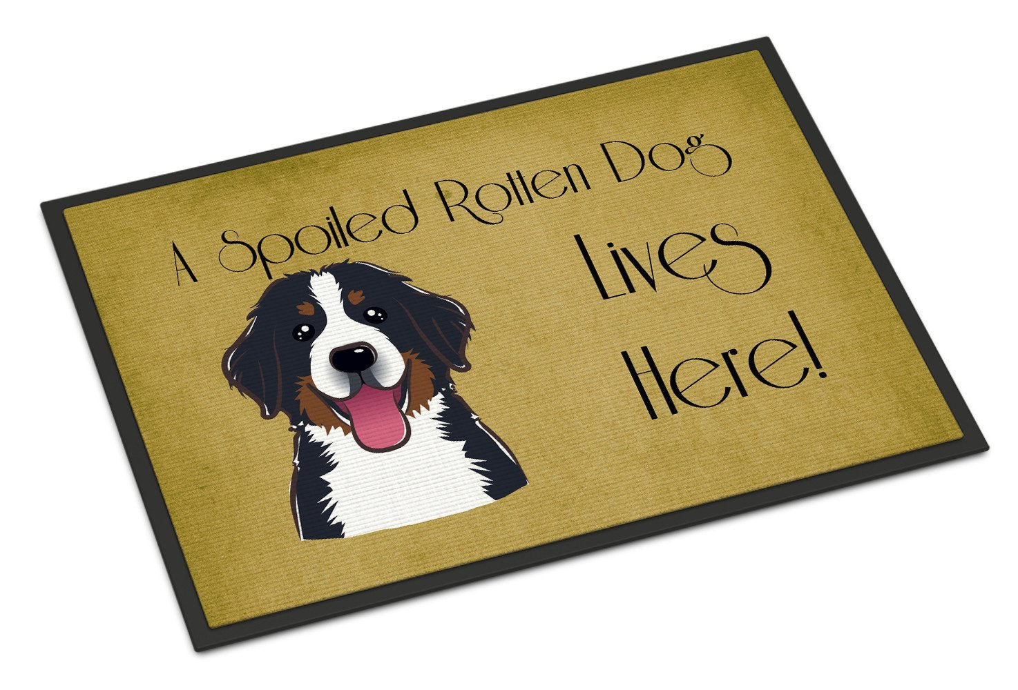 Bernese Mountain Dog Spoiled Dog Lives Here Indoor or Outdoor Mat 18x27 BB1485MAT - the-store.com