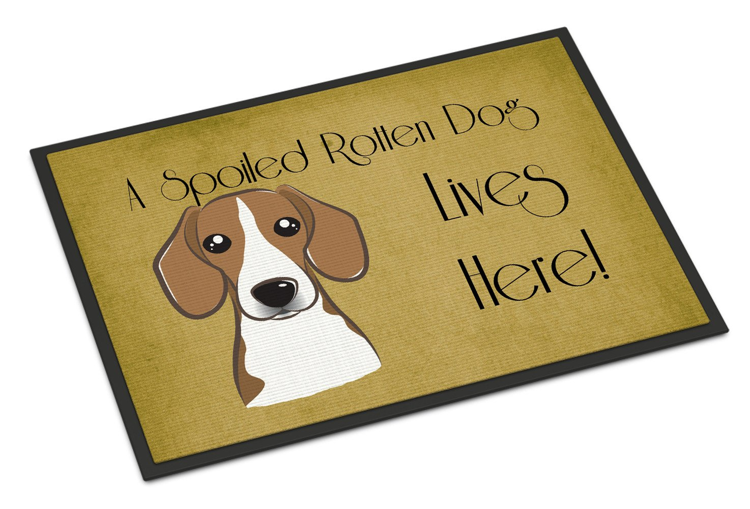 Beagle Spoiled Dog Lives Here Indoor or Outdoor Mat 18x27 BB1487MAT - the-store.com