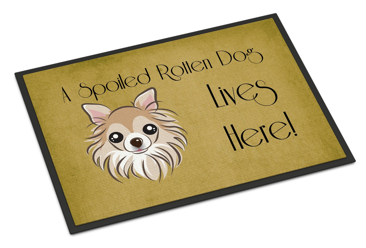 Chihuahua Spoiled Dog Lives Here Indoor or Outdoor Mat 18x27 BB1499MAT - the-store.com