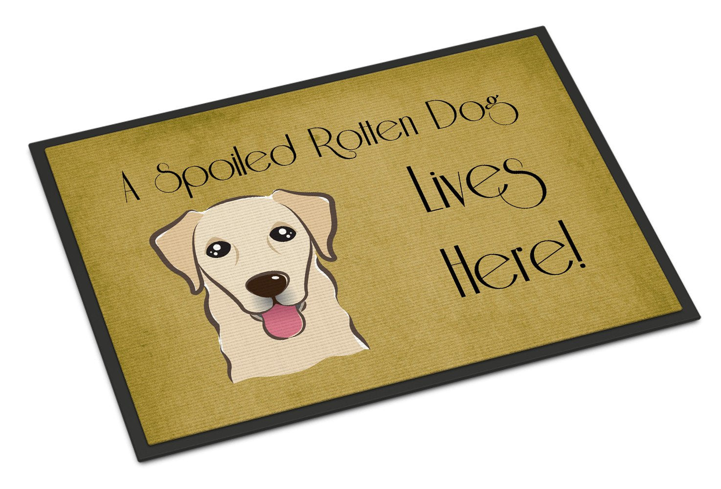 Golden Retriever Spoiled Dog Lives Here Indoor or Outdoor Mat 18x27 BB1500MAT - the-store.com