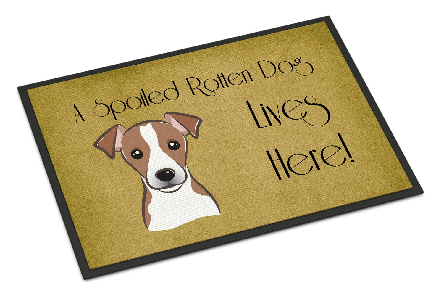 Jack Russell Terrier Spoiled Dog Lives Here Indoor or Outdoor Mat 18x27 BB1508MAT - the-store.com