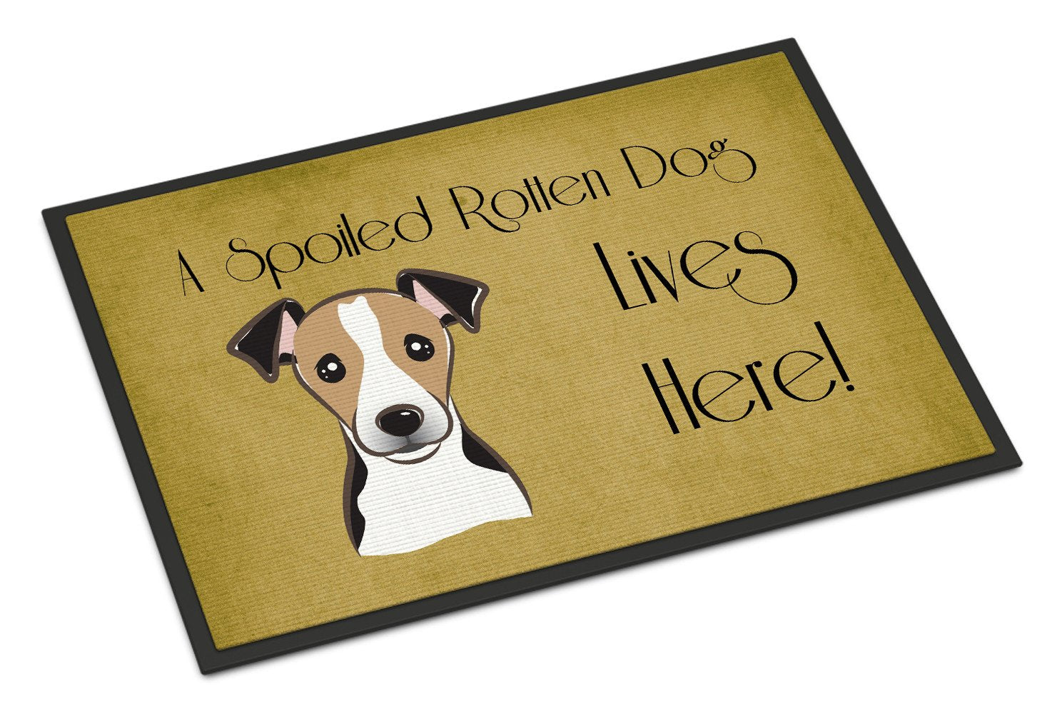 Jack Russell Terrier Spoiled Dog Lives Here Indoor or Outdoor Mat 18x27 BB1509MAT - the-store.com