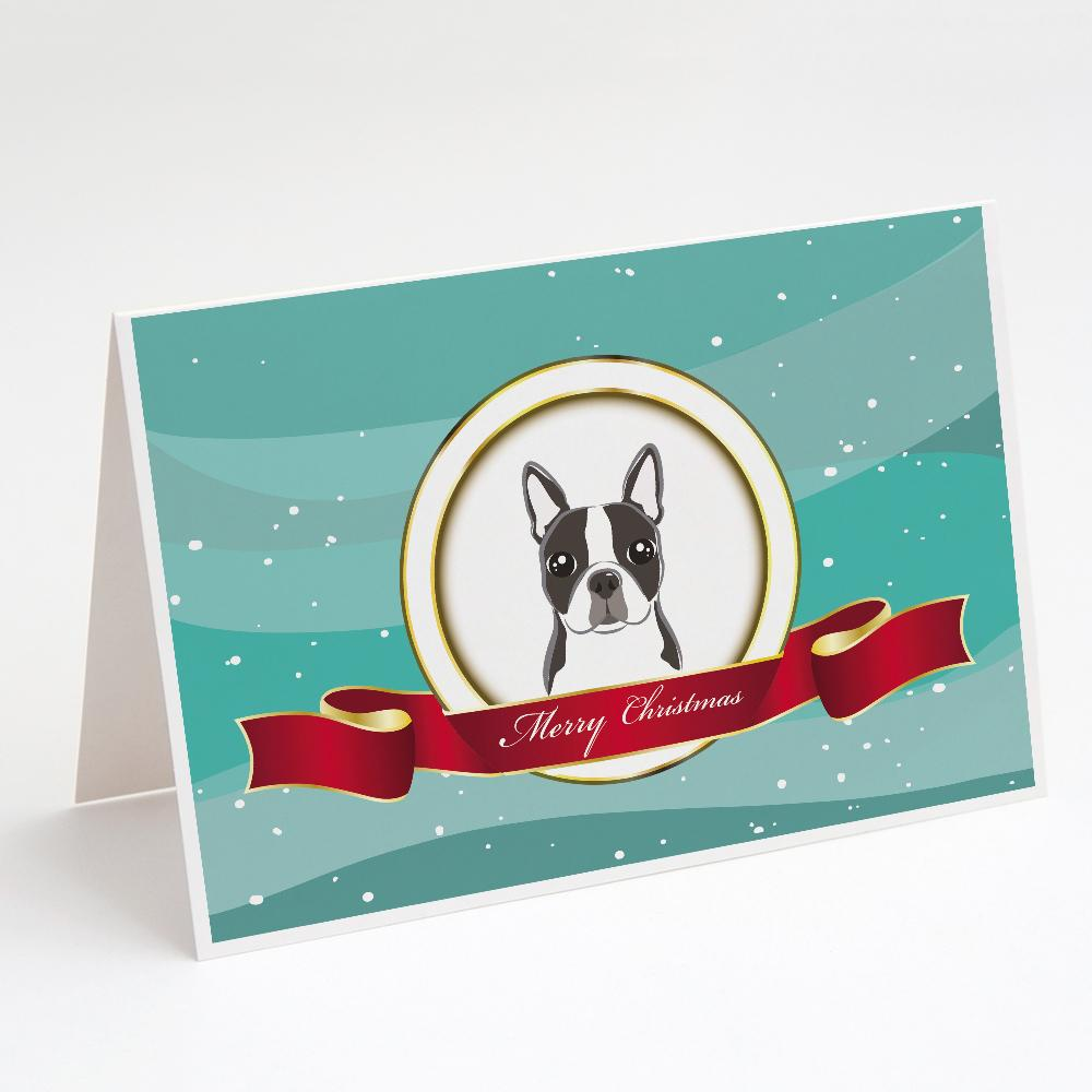 Buy this Boston Terrier Merry Christmas Greeting Cards and Envelopes Pack of 8