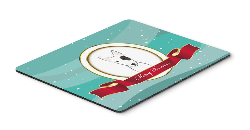 Buy this Bull Terrier Merry Christmas Mouse Pad, Hot Pad or Trivet BB1519MP