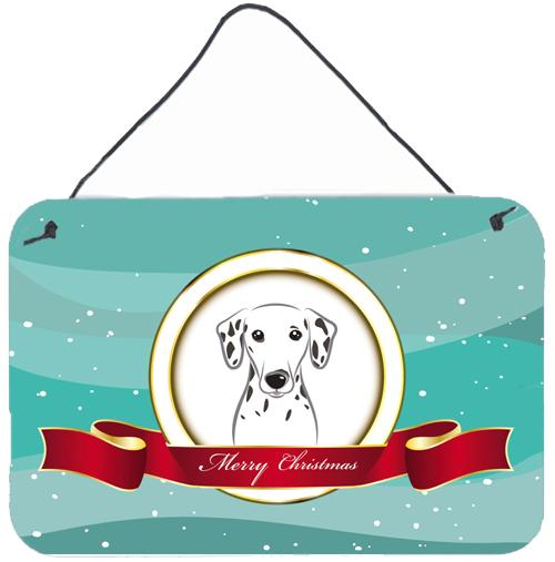 Dalmatian Merry Christmas Wall or Door Hanging Prints BB1520DS812 by Caroline's Treasures