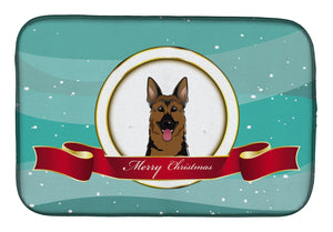 Buy this German Shepherd Merry Christmas Dish Drying Mat BB1521DDM